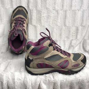 Merrell Castle Rock Purple Hiking Boots